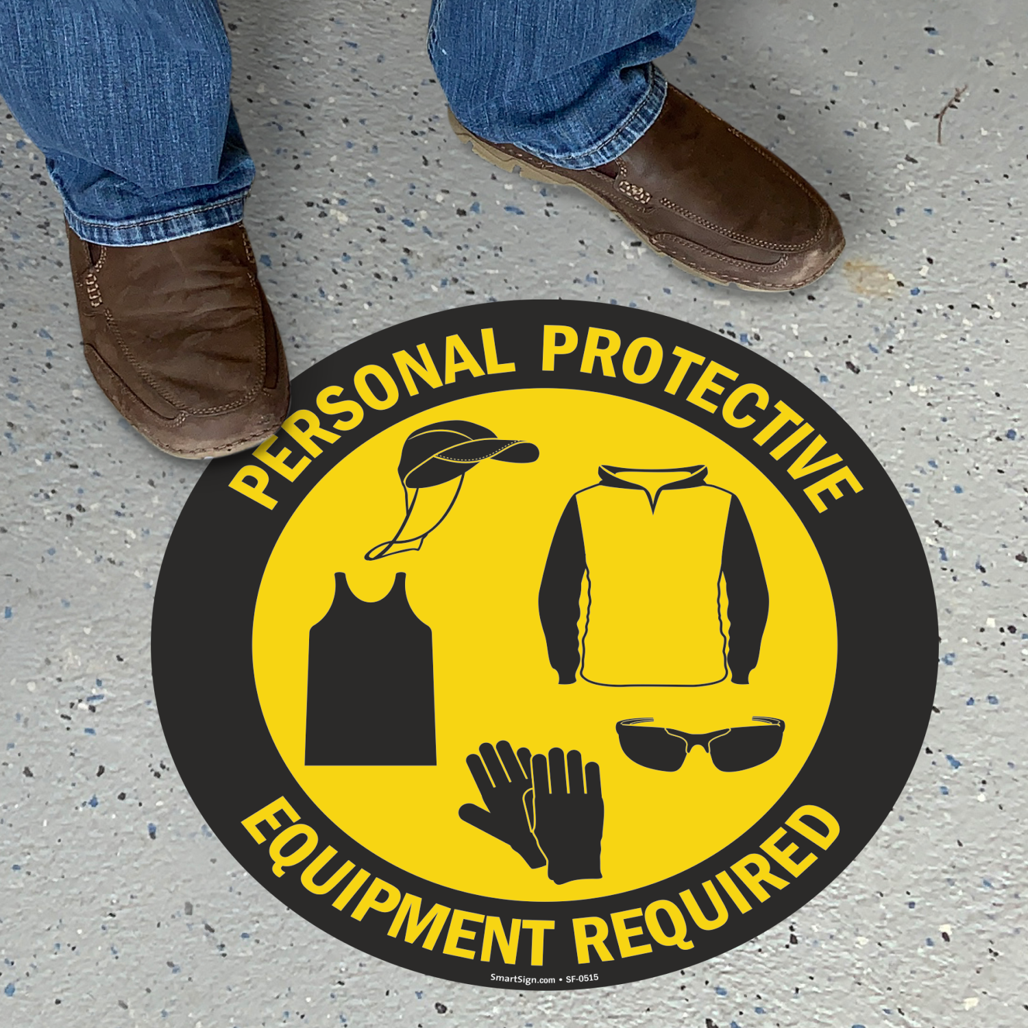 Personal Protective Equipment Required Floor Sign Sku Sf 0515
