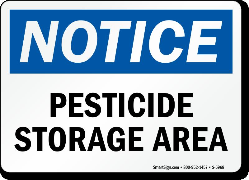 Pesticide Storage Area OSHA Notice Sign