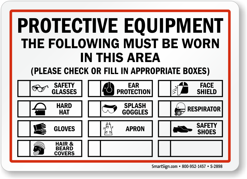 Multi-Hazard PPE Signs | Wear PPE Signs