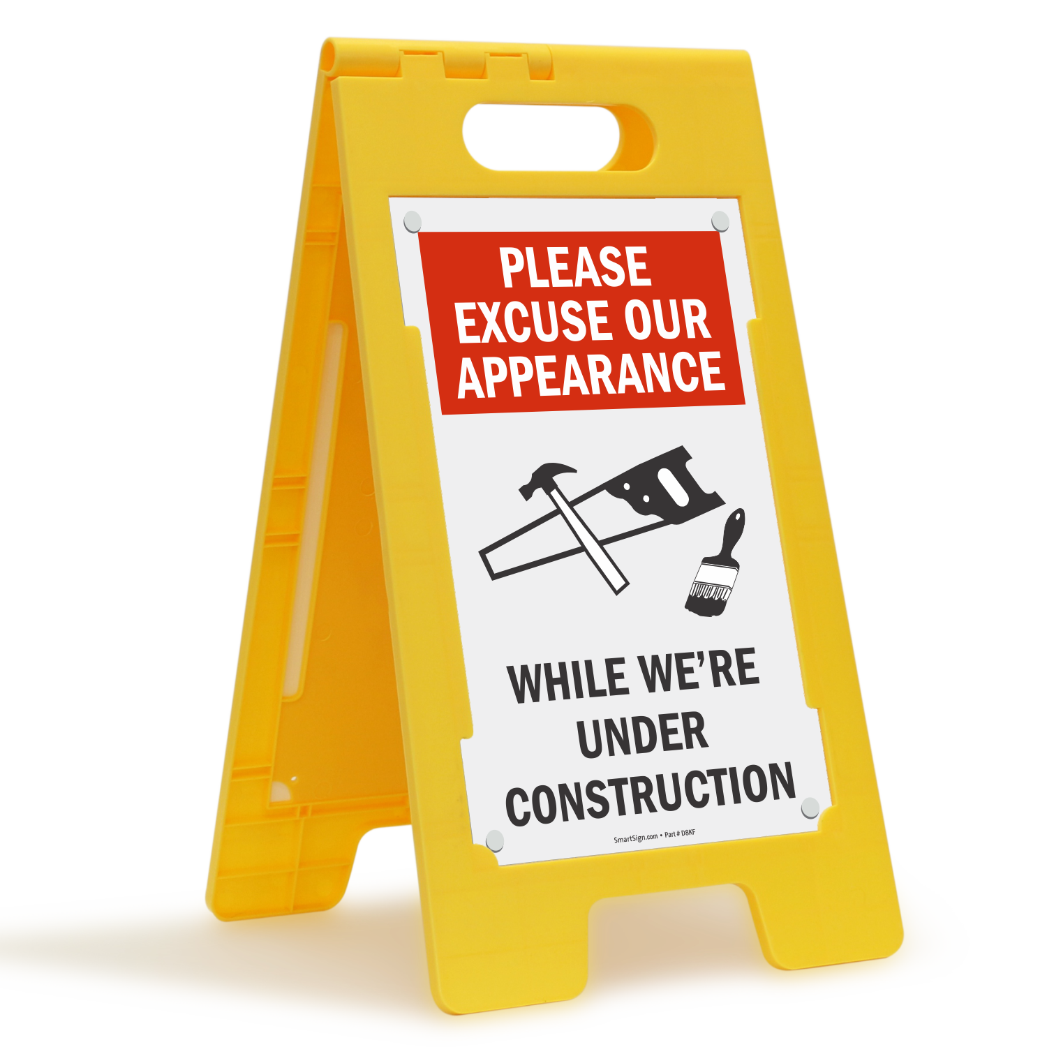 Please Excuse Our Appearance While Under Construction Sign