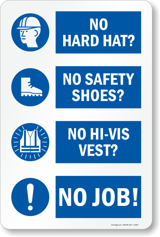 Ppe Required Safety Construction Sign Ships Free Sku S
