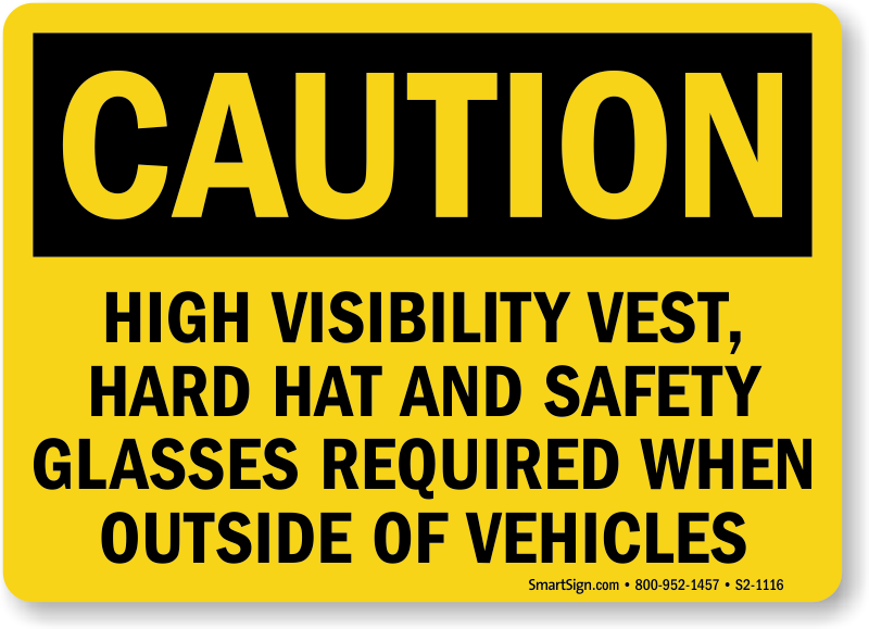 PPE Required Outside Vehicles Sign