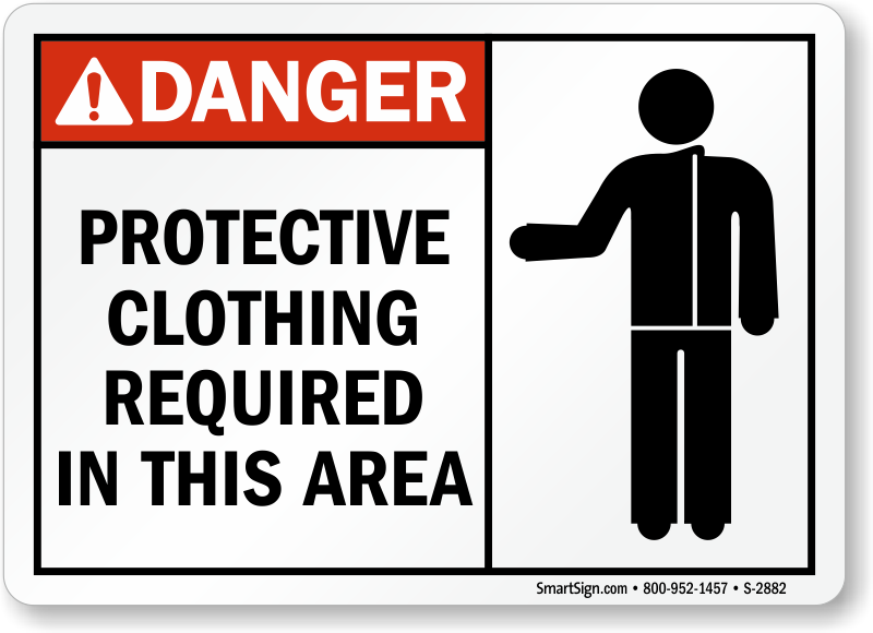 wear protective clothing signs wear protective equipment signs