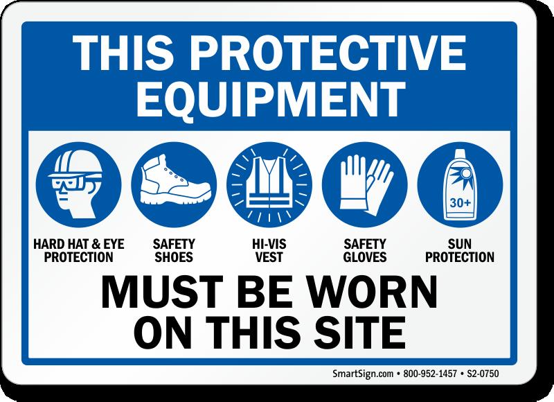 Multi Hazard Ppe Signs Wear Ppe Signs