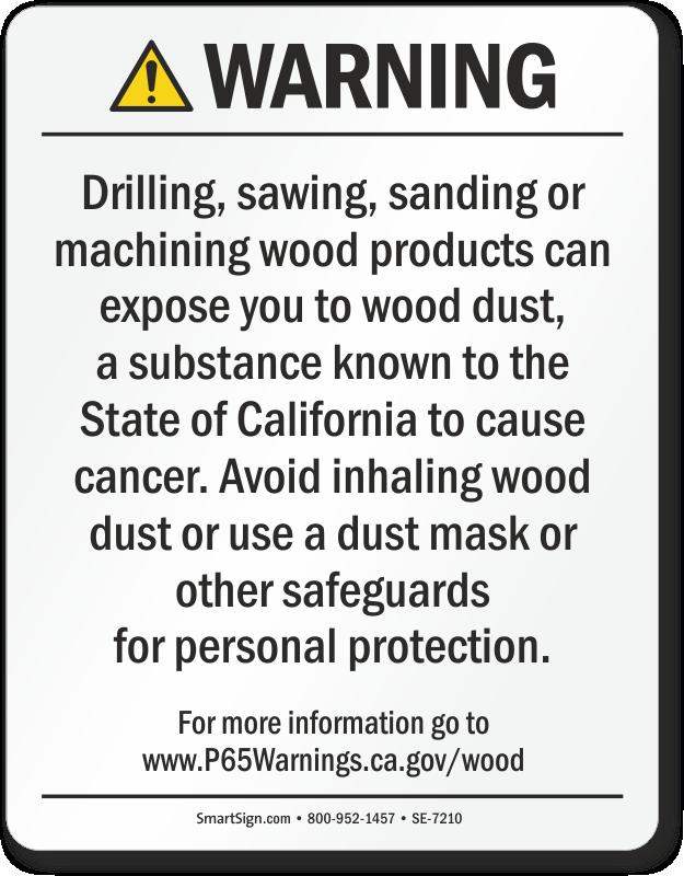 Raw Wood Product Exposure Prop 65 Warning