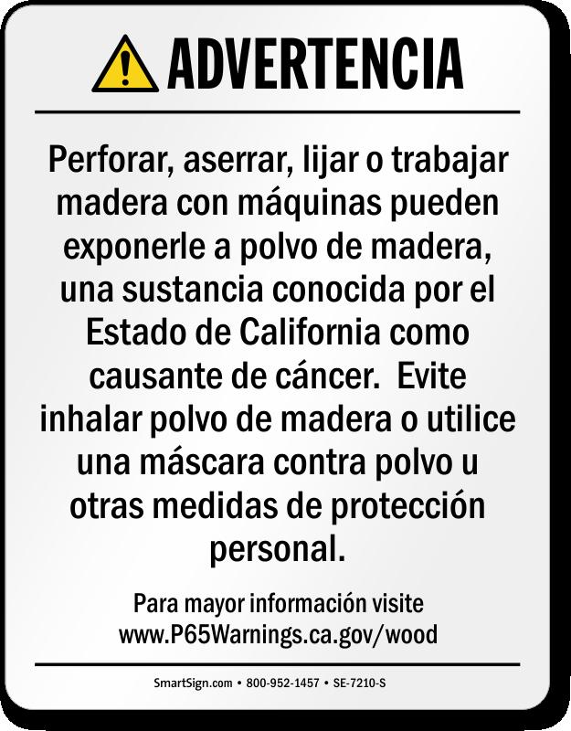 5ce735f1e53 Raw Wood Product Exposure Spanish Prop 65 Warning