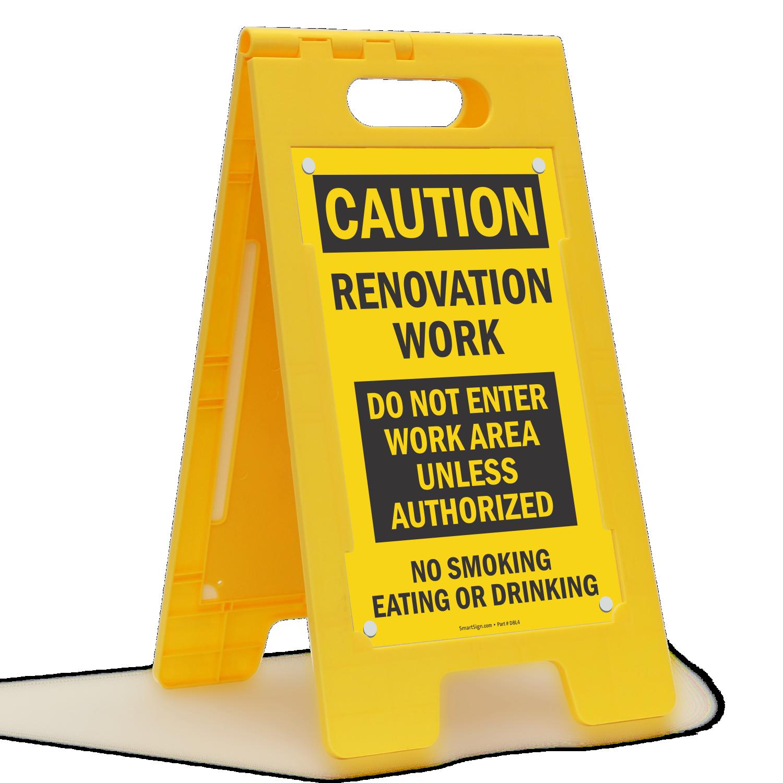 Renovation Work, Do Not Enter Standing Floor Sign