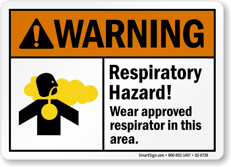 Respiratory Hazard Wear Respirator In Area Sign