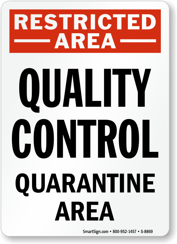 Quarantine Signs  Quarantine Area Safety Signs-7464