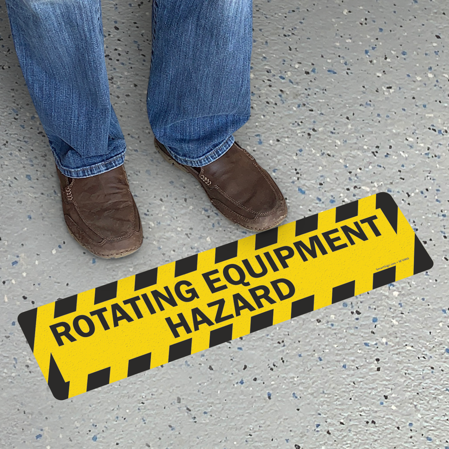 Rotating Equipment Hazard Slip-Resistant Sign