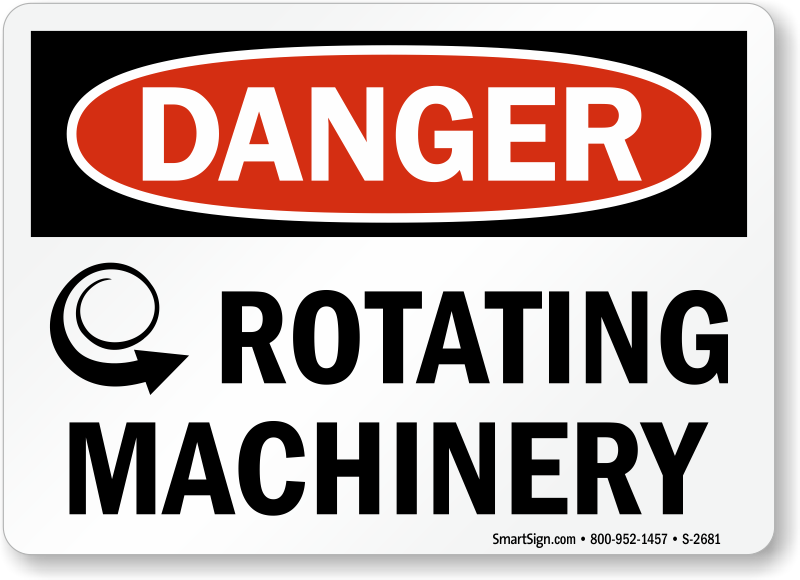 machine safety signs