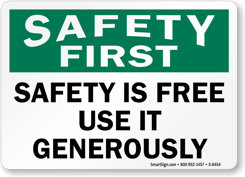 Obsessed image for free printable safety signs