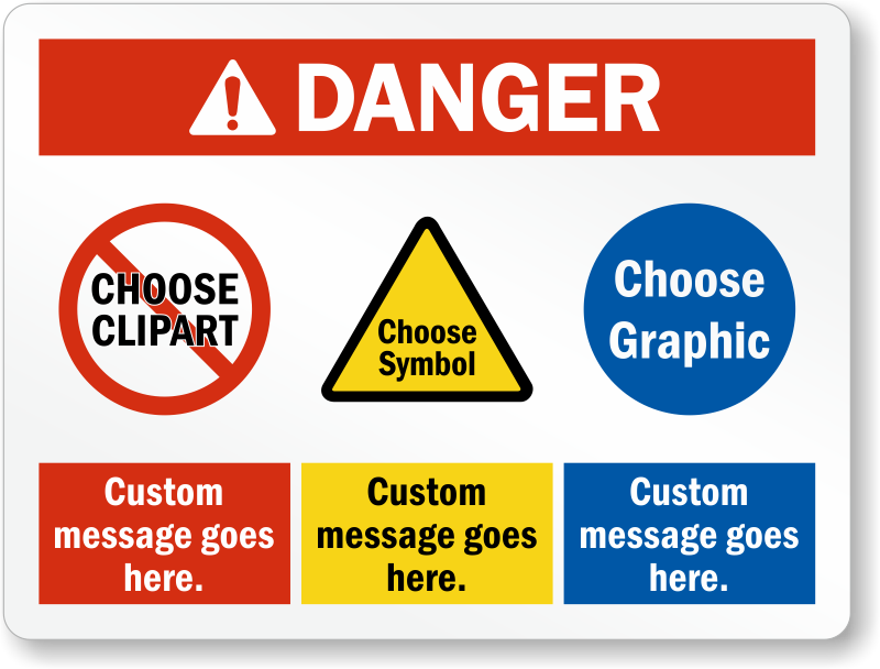 Select Cliparts, Choose Header And Add Custom Message Sign