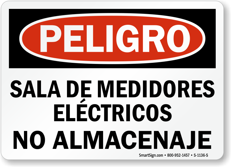 Electric Meter Cans Sign : Meter warning signs electric room