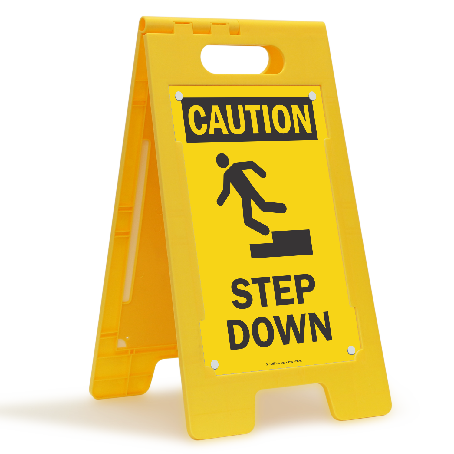 Step Down Caution Free-Standing Floor Sign