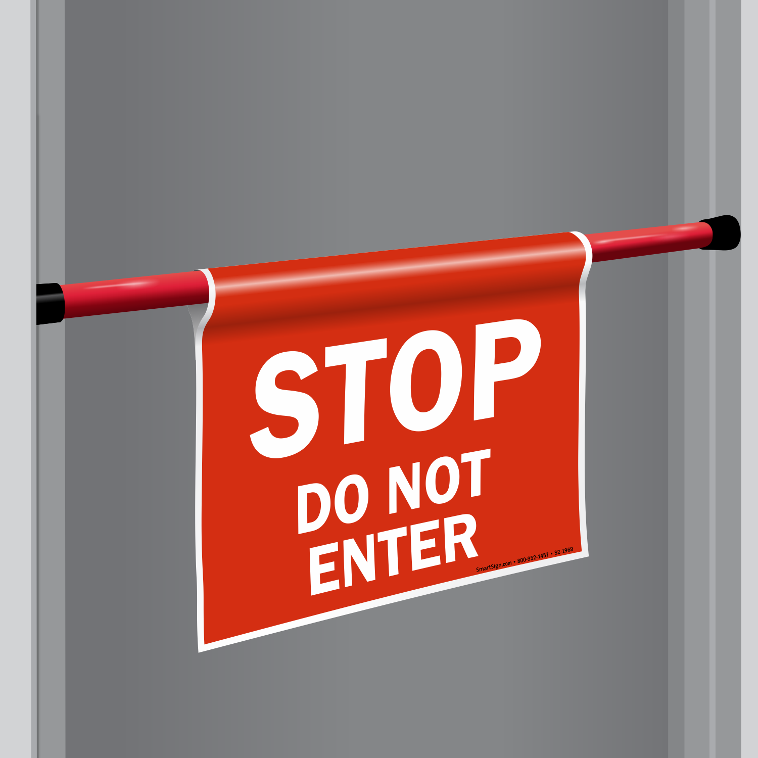 DoorBoss Signs: Portable, Lightweight Safety Barriers