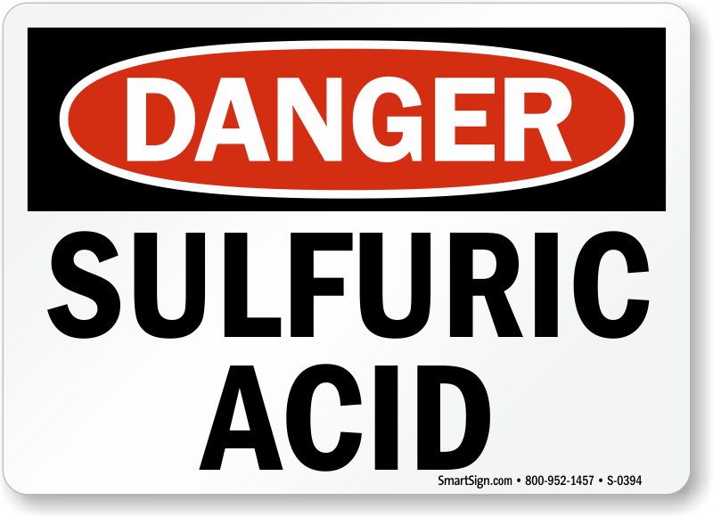 Sulfuric Acid Signs Best Deals From Mysafetysign