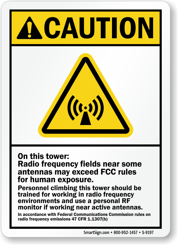 Use Personal Rf Monitor If Working Near Active Antennas