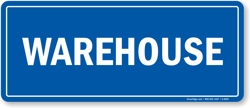 Warehouse Shipping & Receiving Sign