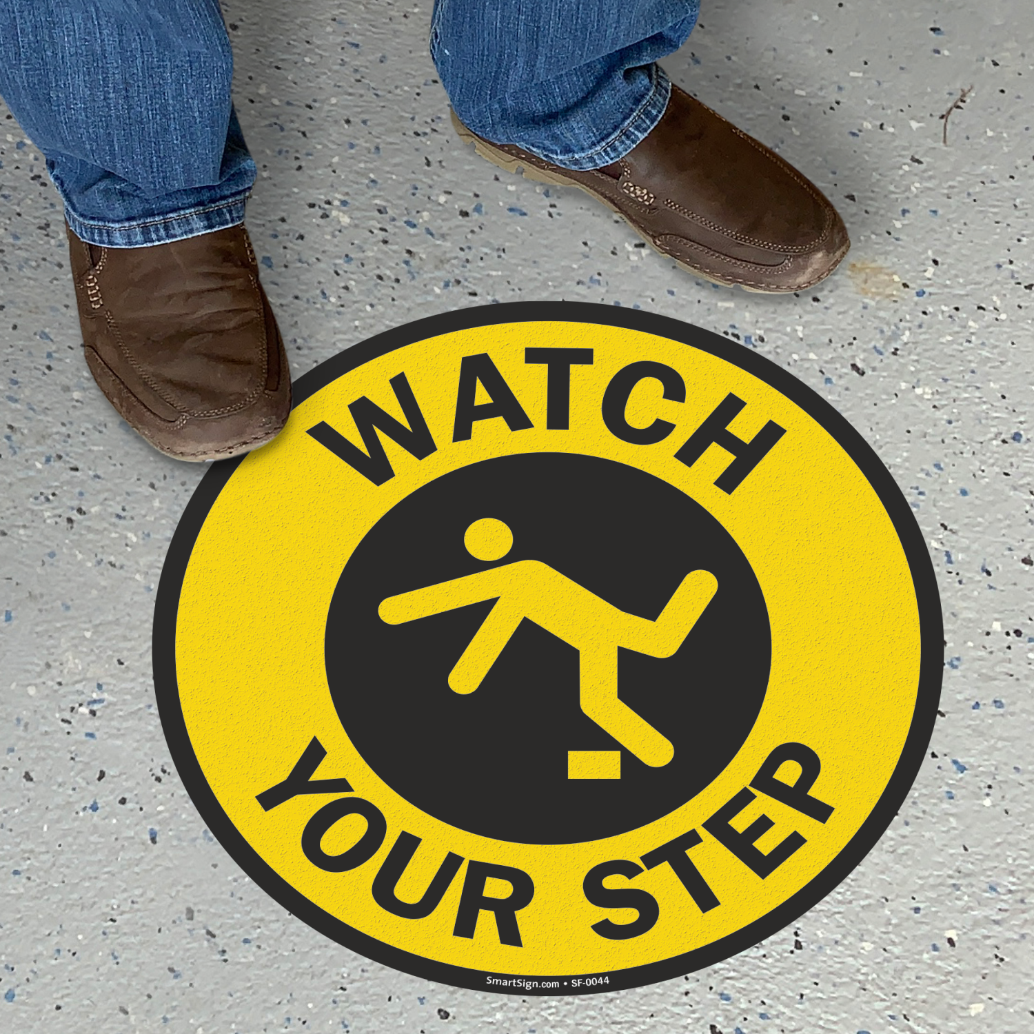 Watch Your Step Adhesive Floor Sign Sku Sf 0044