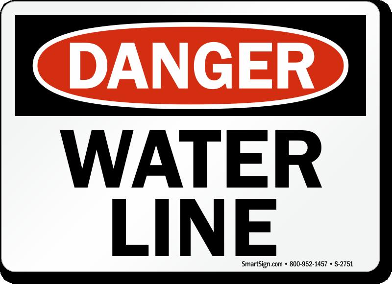 Water Line Danger Sign Red Amp Black Sku S 2751