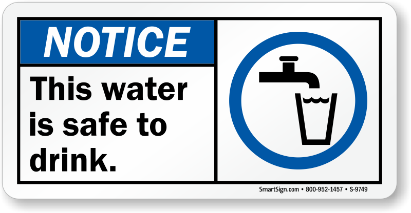 Potable Water & Fresh Drinking Water Signs | Free Shipping
