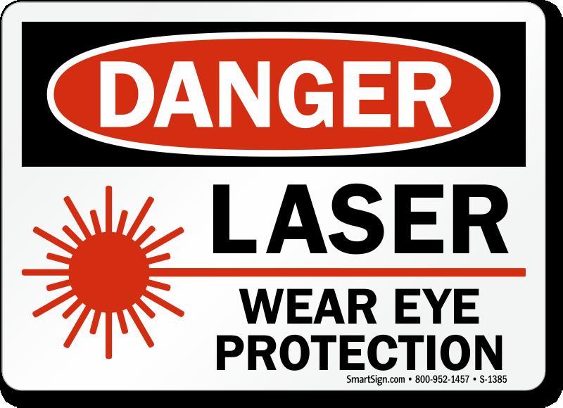 Laser Wear Eye Protection Sign Osha Sku S 1385