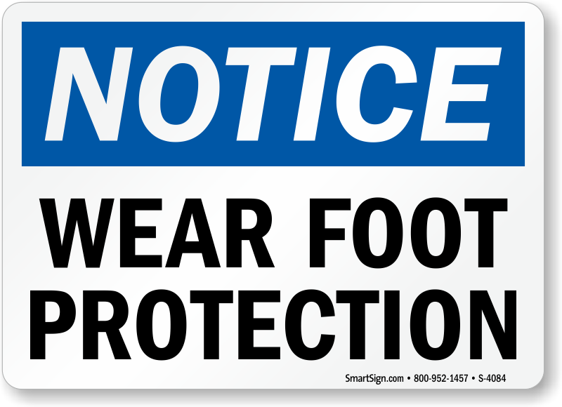Wear Foot Protection Sign Sku S 4084 Mysafetysign Com