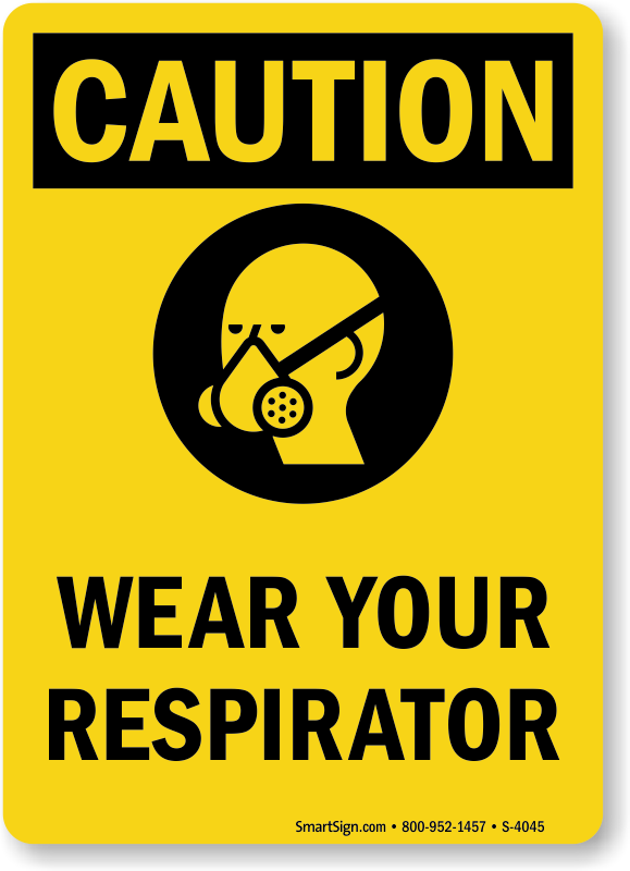 Respirator Signs | Respirators Required In This Area Signs
