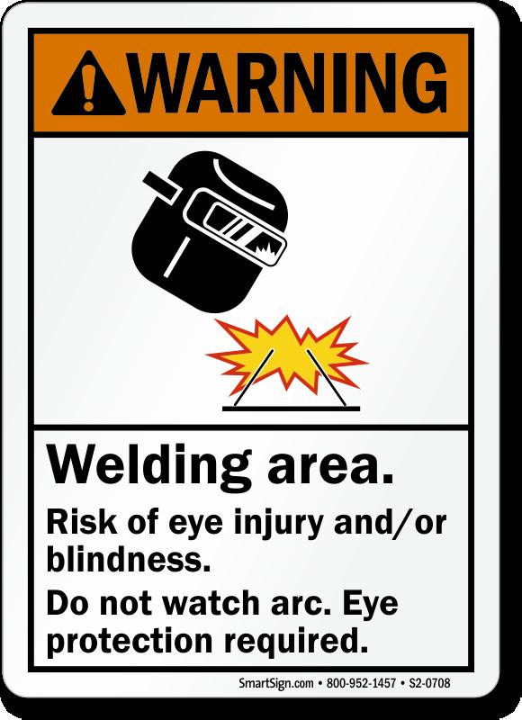 Welding Area Do Not Watch Arc Sign