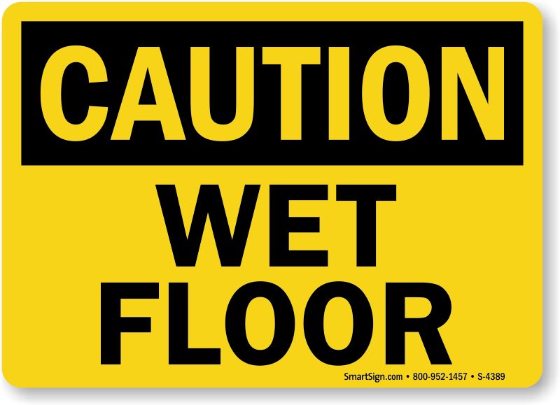 Dashing image for wet floor signs printable