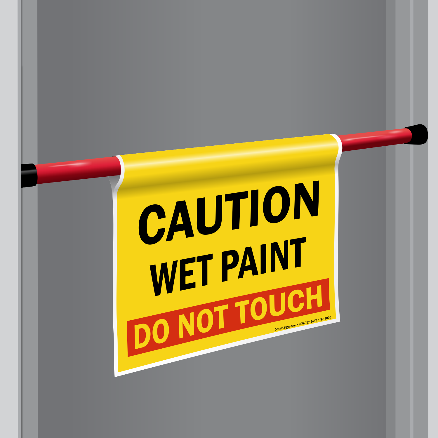 Wet Paint Do Not Touch Door Barricade Sign SKU S2-2000 - MySafetySign.com & Wet Paint Do Not Touch Door Barricade Sign SKU: S2-2000 ...