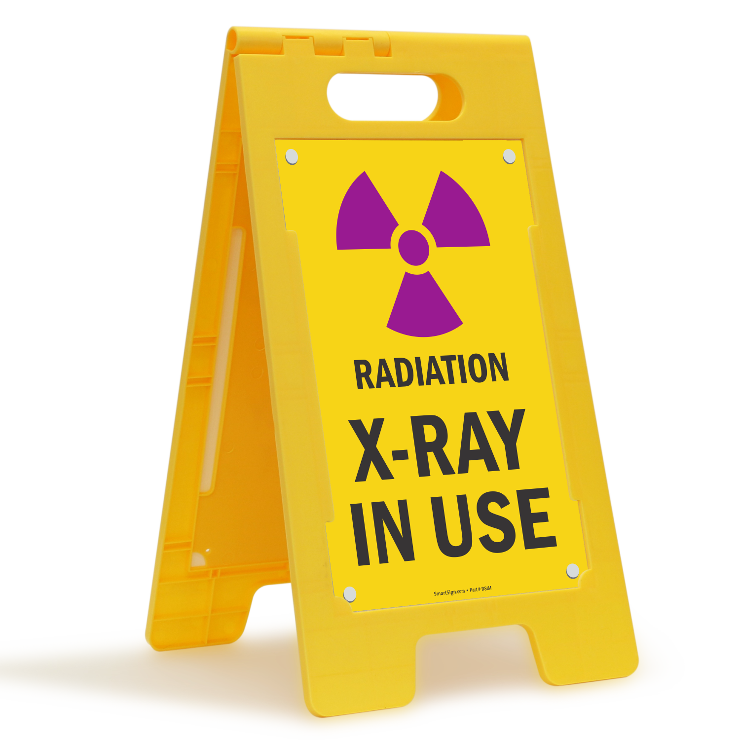 Radiation X-Ray In Use Free-Standing Floor Sign