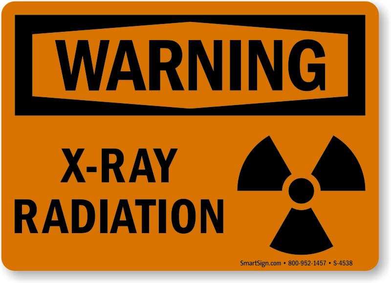 X Ray Radiation Warning Signs X Ray In Use Signs