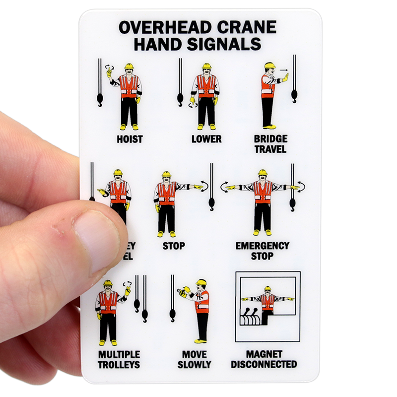 Overhead Crane Operator Licence : Mobile crane hand signals overhead signal wallet