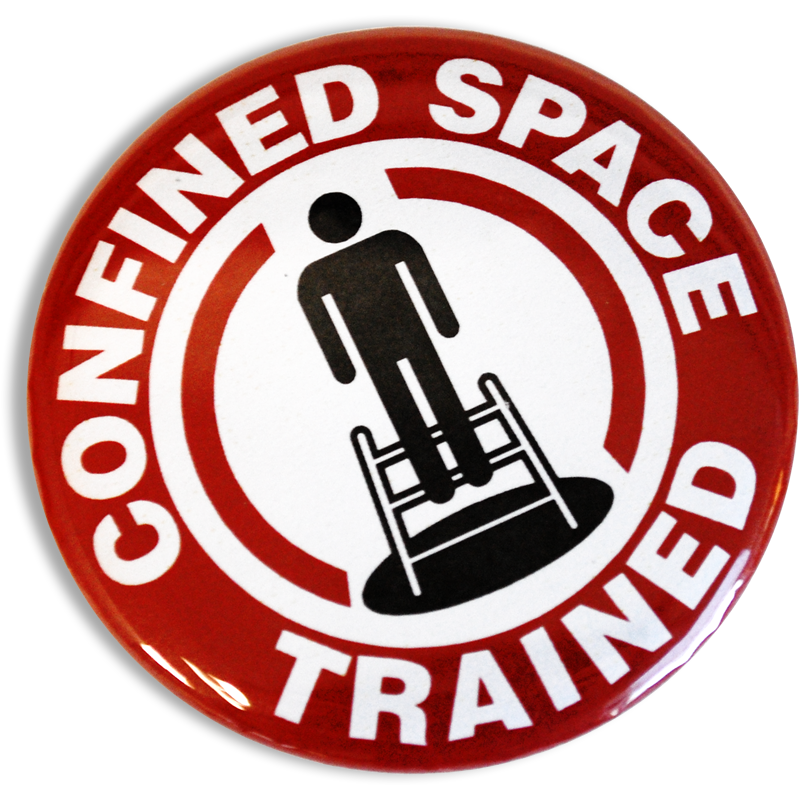 Confined Space Trained Buttons