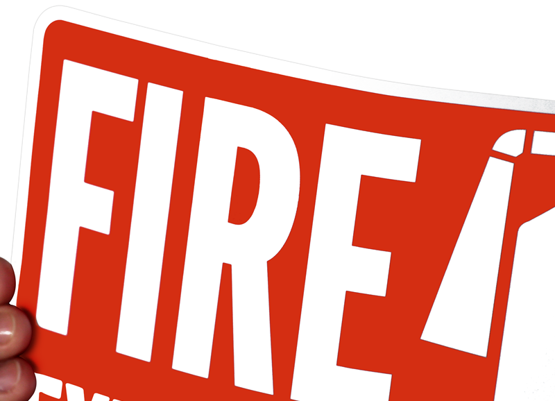 Fire Extinguisher (with graphic) Signs