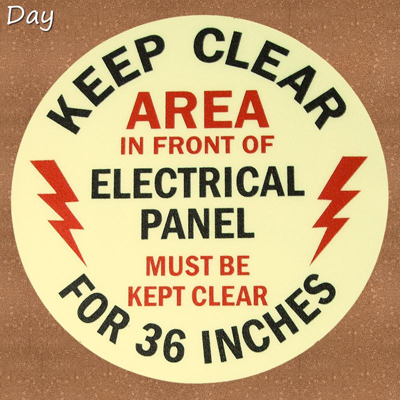 Keep Clear 36 Inches Circular Glow Floor Signs
