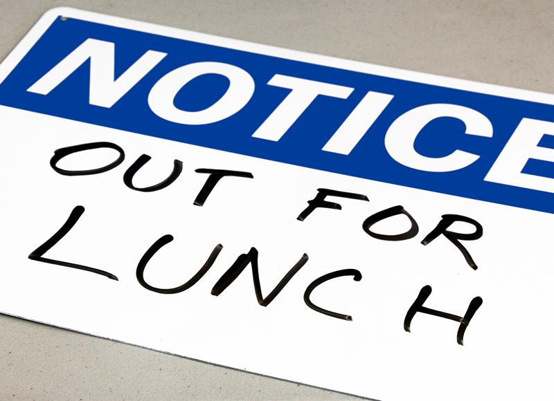 Write-On, Dry Erase (Blank) Notice Sign