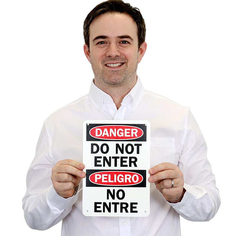 Peligro Do Not Enter Sign