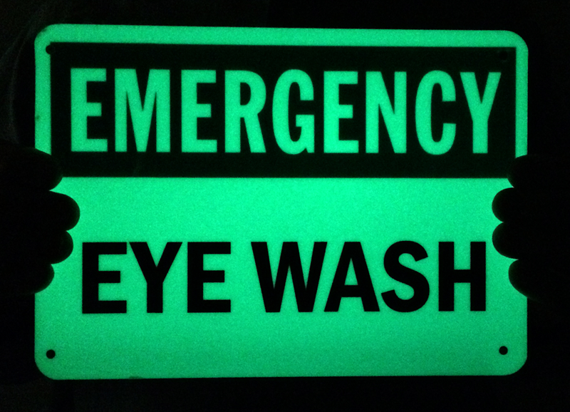 Emergency Eyewash Signs