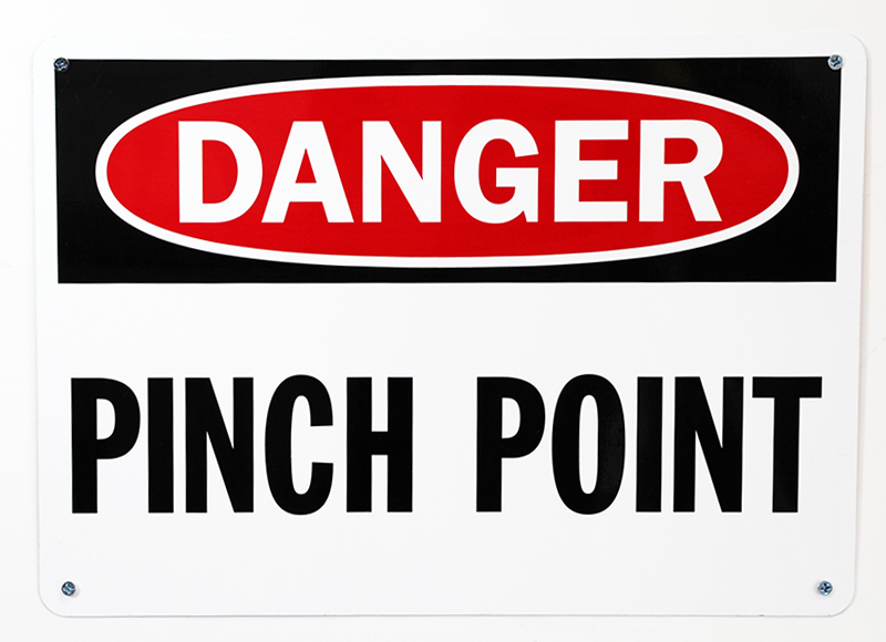 Danger Pinch Point Signs