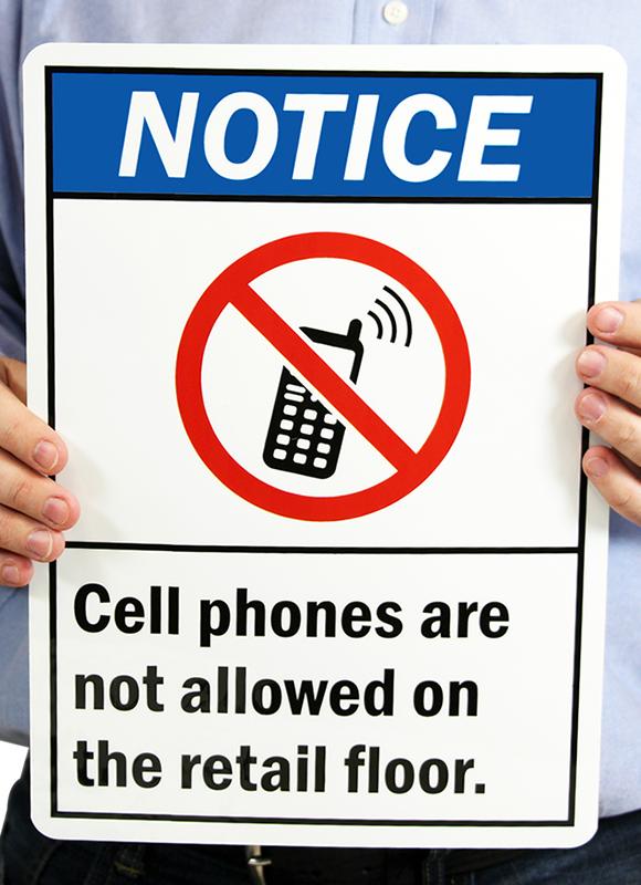 Notice ANSI Signs