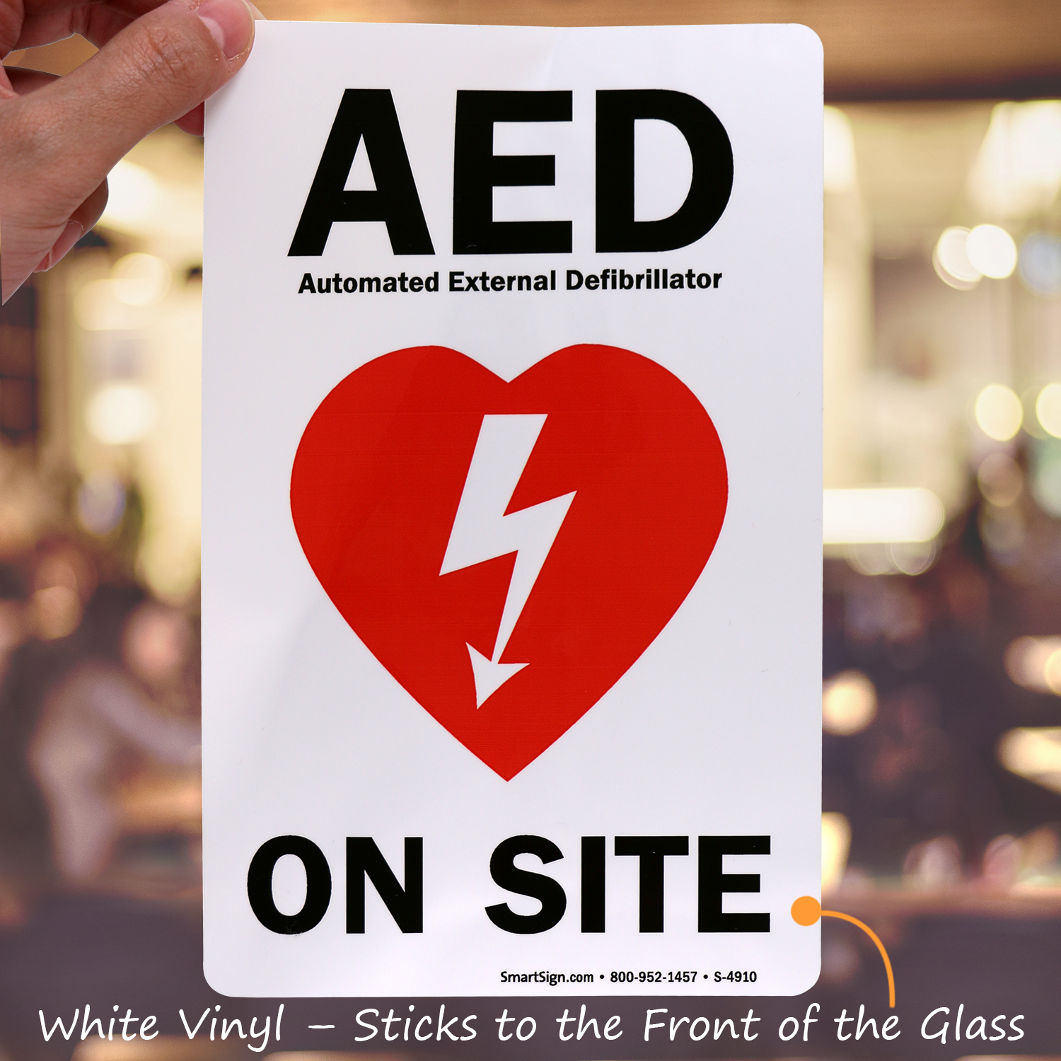 Aed Automated External Defibrillator On Site Sign Sku S 4910