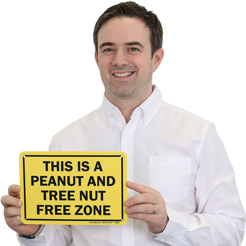 This Is A Peanut  Free Zone Sign