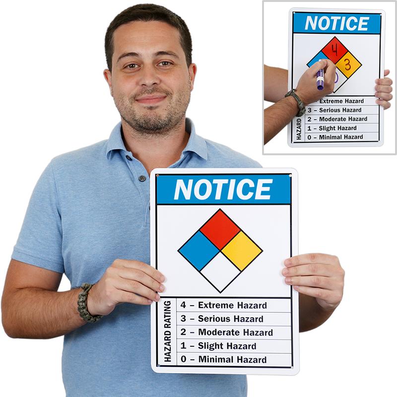 Hazard Diamond: NFPA Diamond Chemical Hazard Ratings Sign, SKU: S-9106