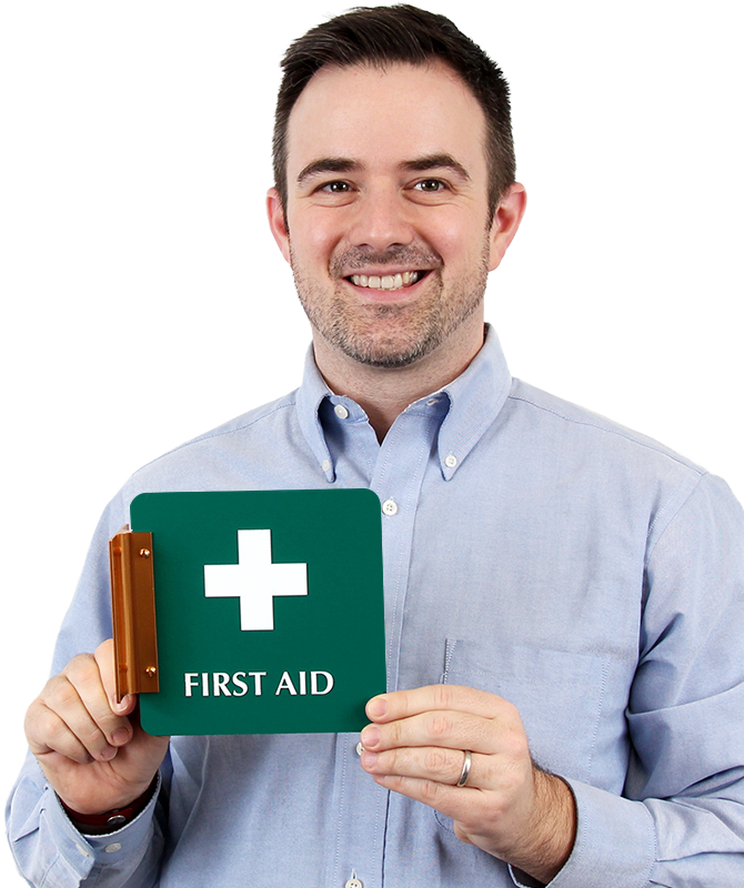 First Aid with Symbol Signs