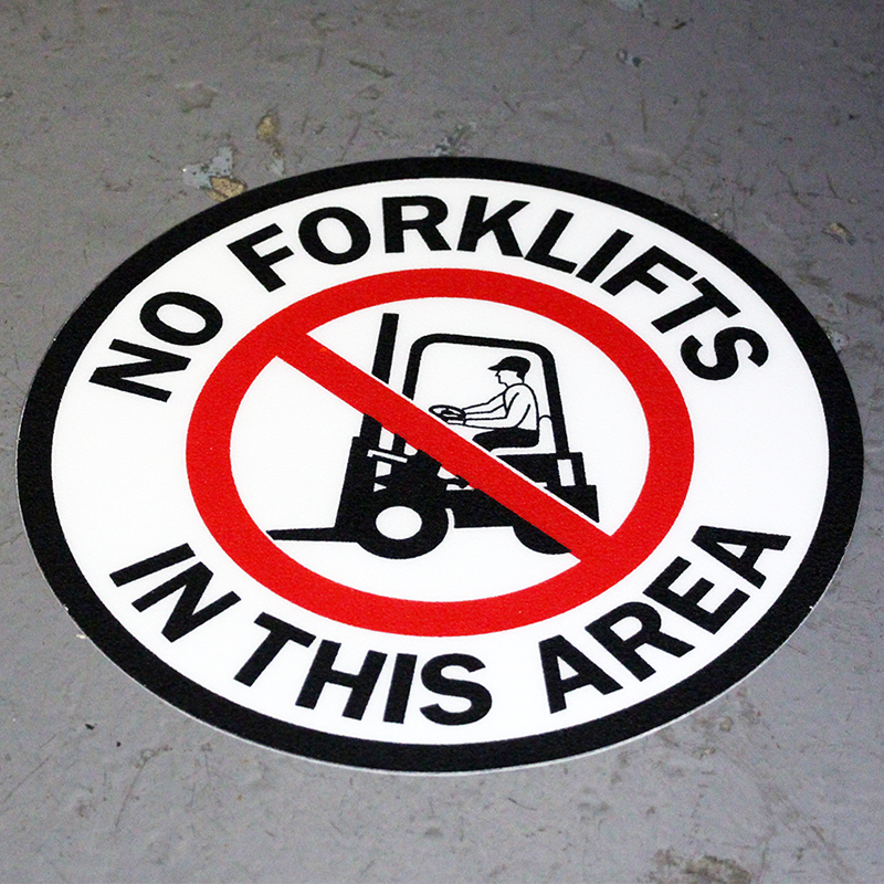 No Forklifts in this Area SlipSafe Floor Signs