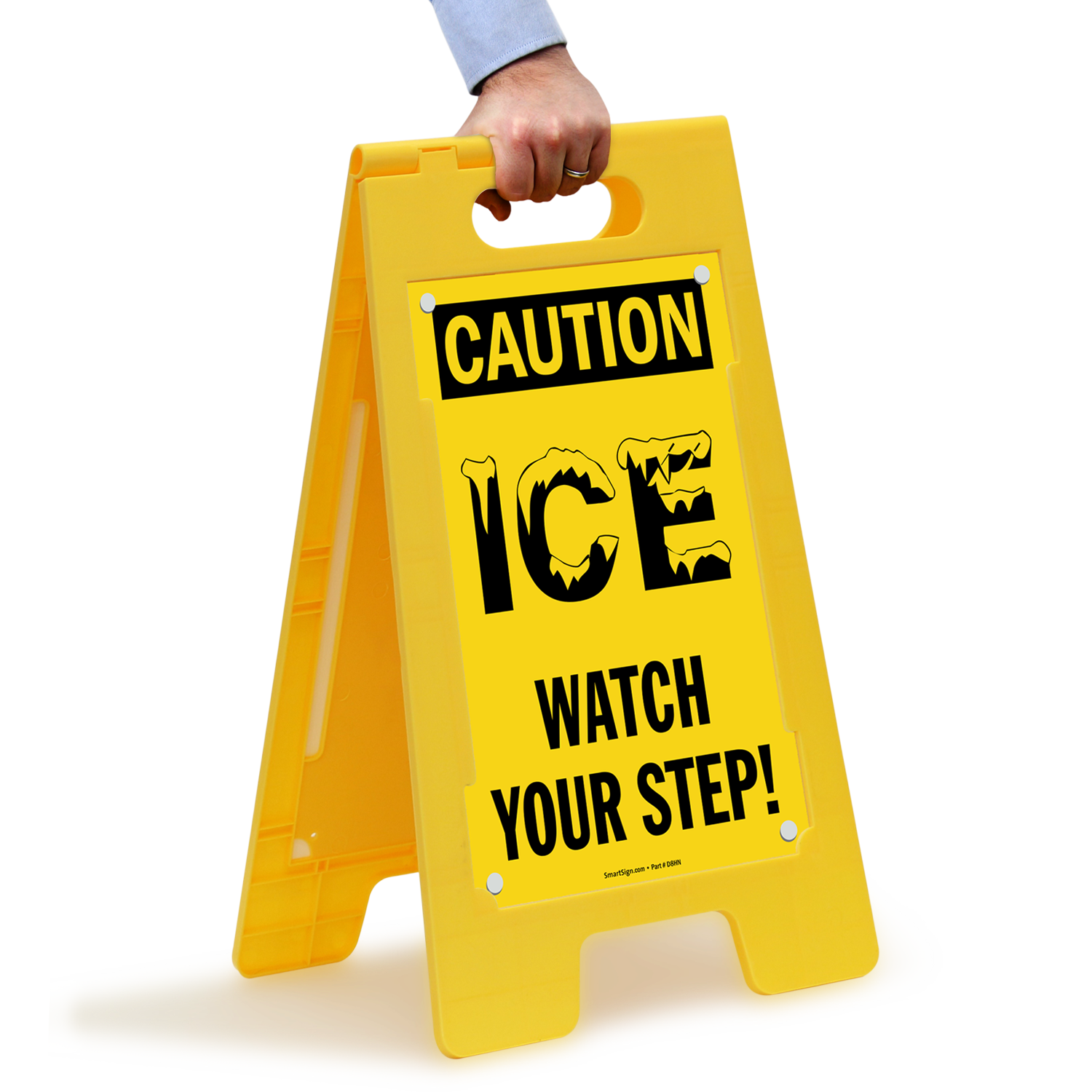 ICE Watch Your Step Caution Standing Floor Signs