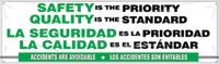 Safety Priority, Quality Standard Bilingual Banner